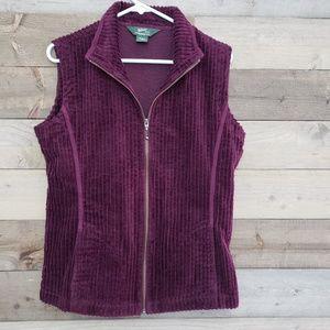 Woolrich Woolen Mills Plum Purple Vest w/ Pockets